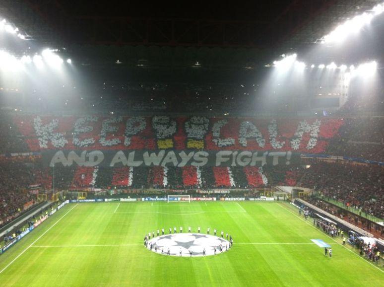 Milan Barcellona Champions League Coreografia Curva Sud